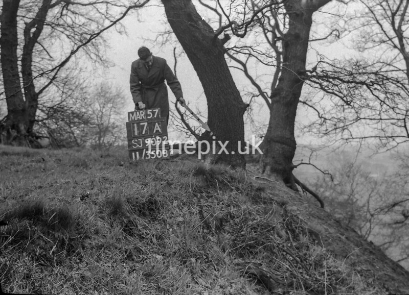SJ909217A, Ordnance Survey Revision Point photograph in Greater Manchester