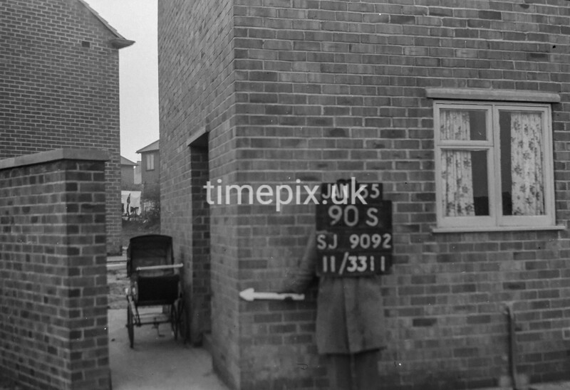 SJ909290S, Ordnance Survey Revision Point photograph in Greater Manchester