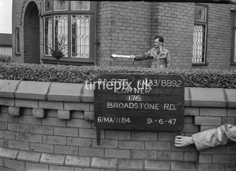 SJ889287C, Ordnance Survey Revision Point photograph in Greater Manchester