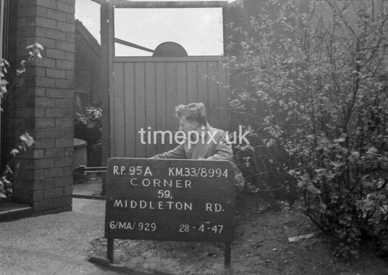 SJ899495A, Ordnance Survey Revision Point photograph in Greater Manchester