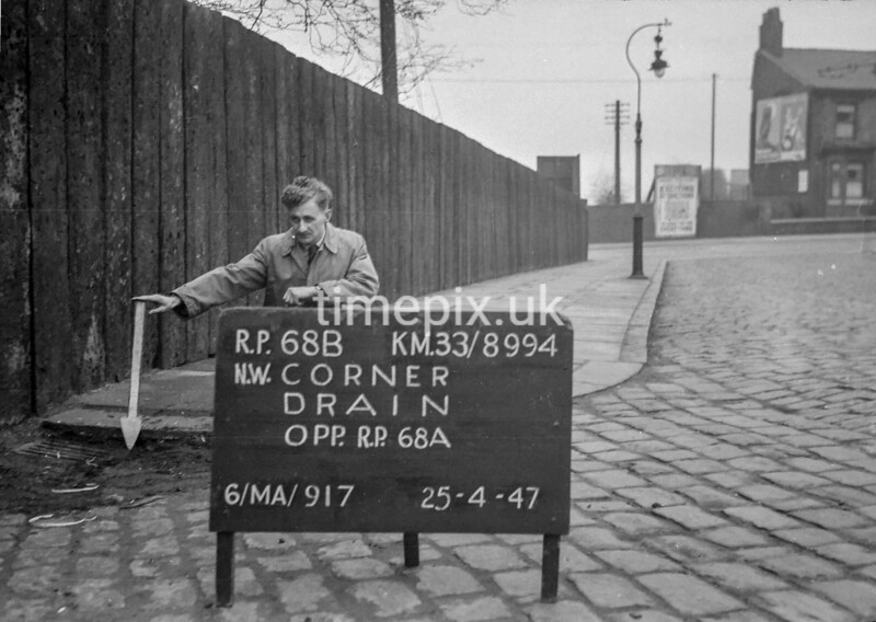 SJ899468B, Ordnance Survey Revision Point photograph in Greater Manchester