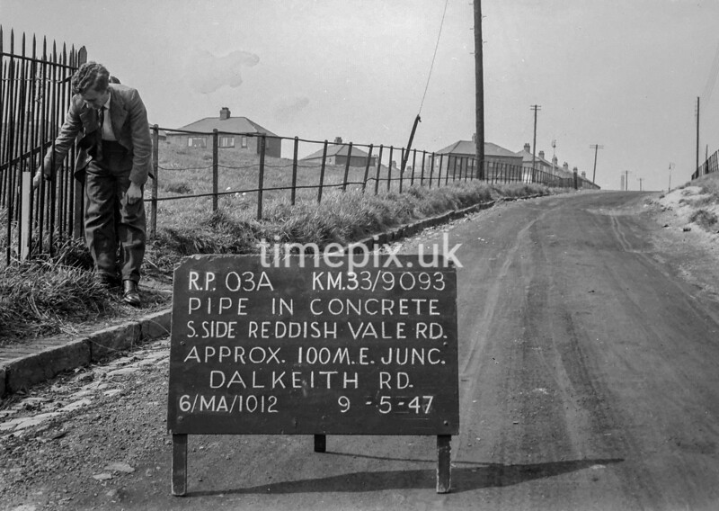 SJ909303A, Ordnance Survey Revision Point photograph in Greater Manchester