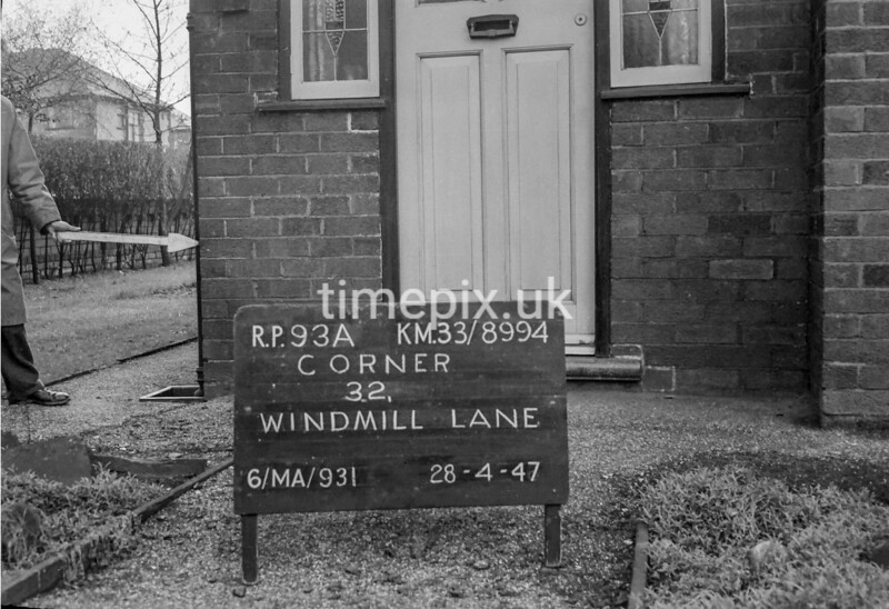SJ899493A, Ordnance Survey Revision Point photograph in Greater Manchester