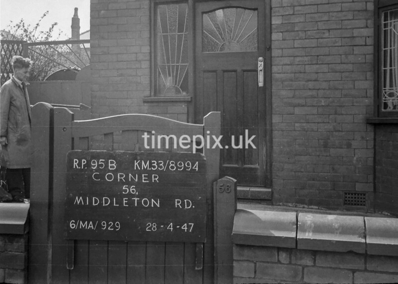 SJ899495B, Ordnance Survey Revision Point photograph in Greater Manchester