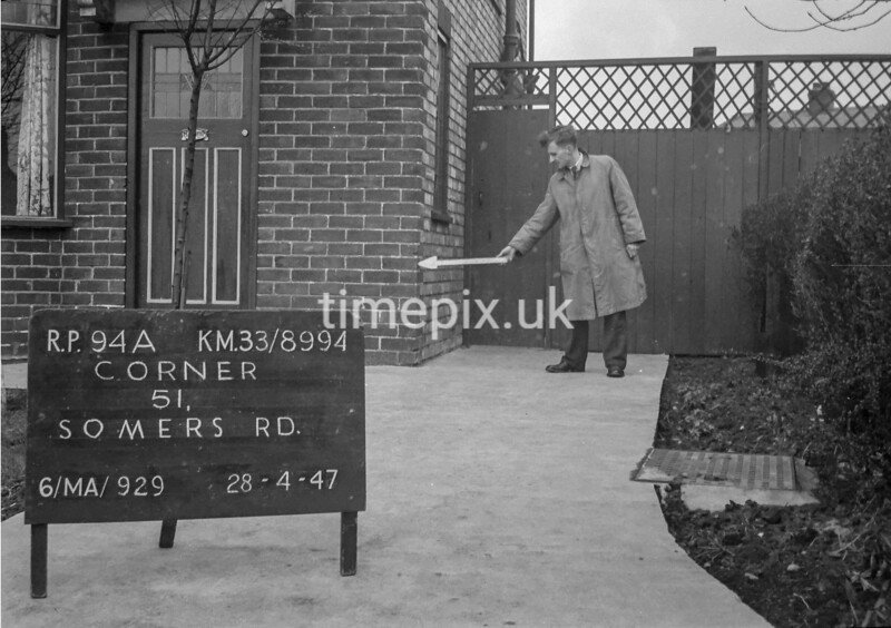 SJ899494A, Ordnance Survey Revision Point photograph in Greater Manchester
