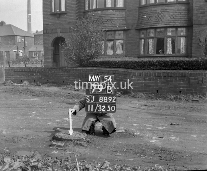 SJ889279B, Ordnance Survey Revision Point photograph in Greater Manchester