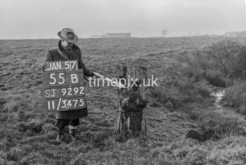 SJ929255B, Ordnance Survey Revision Point photograph in Greater Manchester