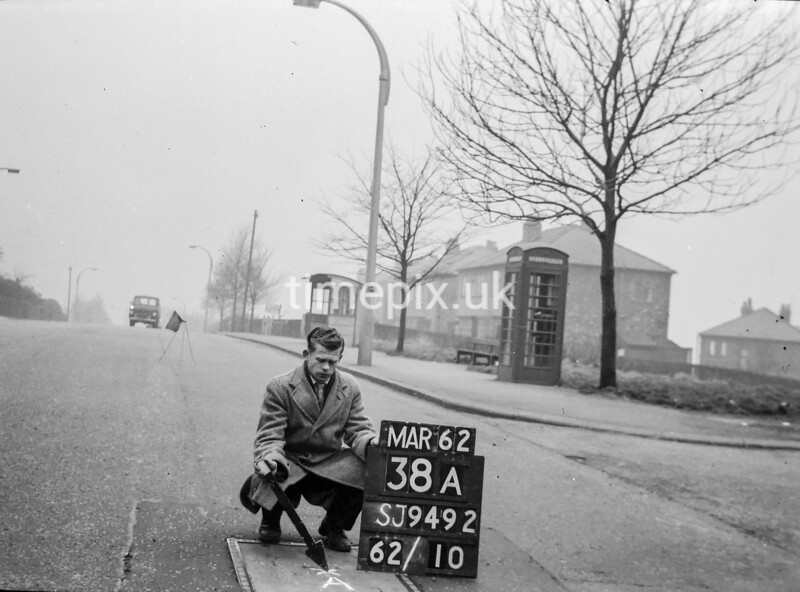 SJ949238A, Ordnance Survey Revision Point photograph in Greater Manchester