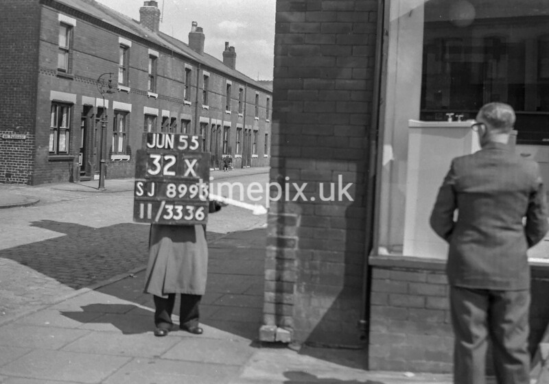 SJ899332X, Ordnance Survey Revision Point photograph in Greater Manchester