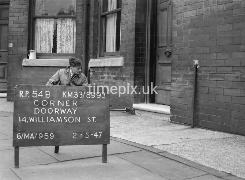 SJ899354B, Ordnance Survey Revision Point photograph in Greater Manchester