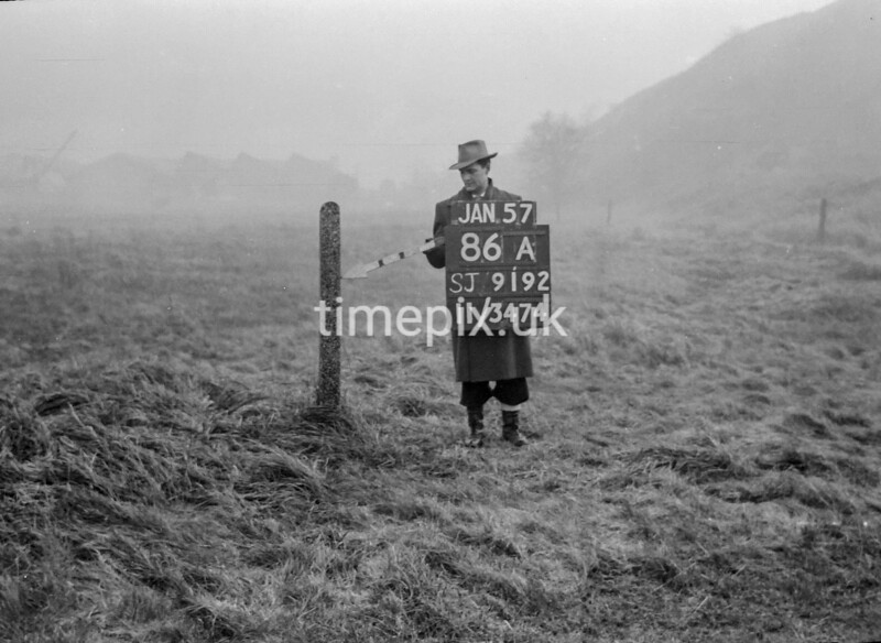 SJ919286A, Ordnance Survey Revision Point photograph in Greater Manchester