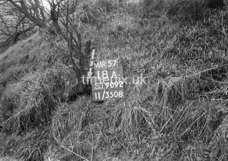 SJ909218A, Ordnance Survey Revision Point photograph in Greater Manchester