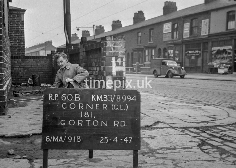 SJ899460B, Ordnance Survey Revision Point photograph in Greater Manchester