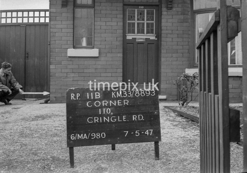 SJ889311B, Ordnance Survey Revision Point photograph in Greater Manchester