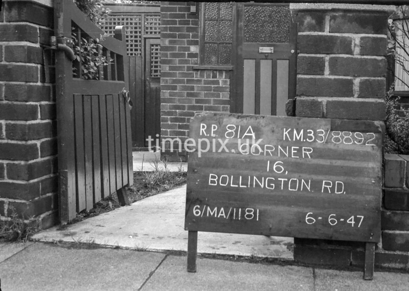 SJ889281A1, Ordnance Survey Revision Point photograph in Greater Manchester