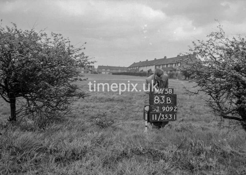 SJ909283B, Ordnance Survey Revision Point photograph in Greater Manchester