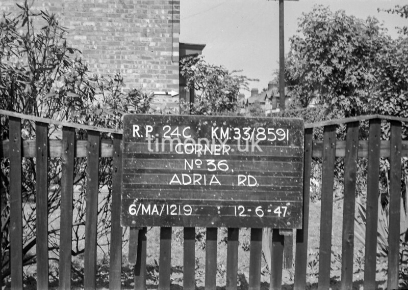 SJ859124C, Ordnance Survey Revision Point photograph in Greater Manchester