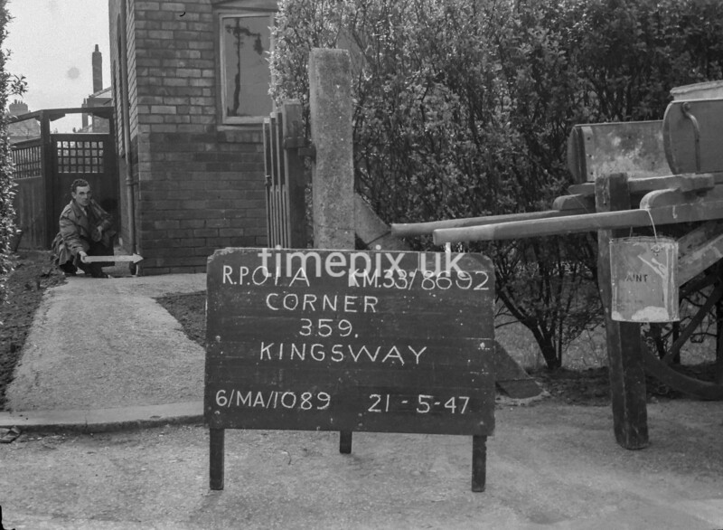 SJ869201A, Ordnance Survey Revision Point photograph in Greater Manchester