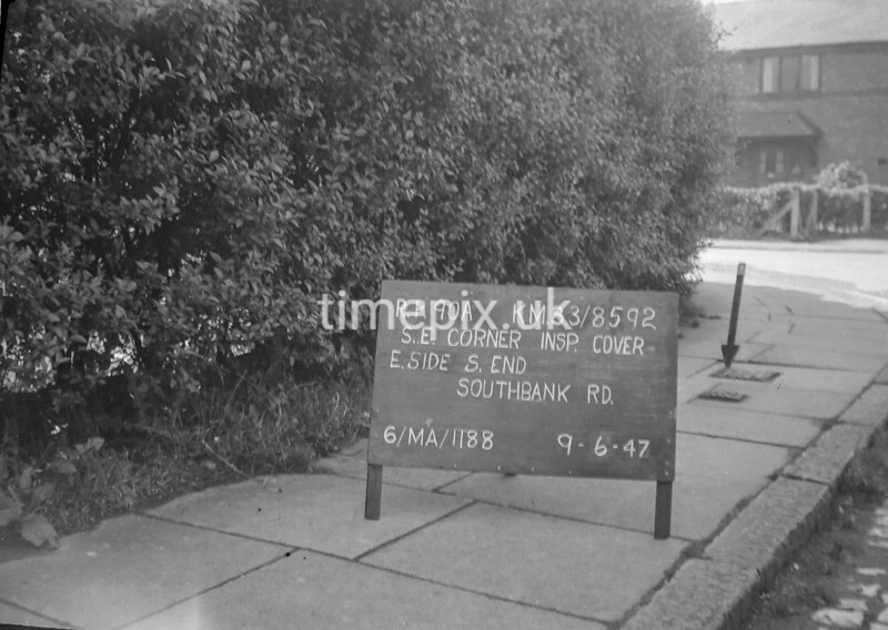 SJ859290A, Ordnance Survey Revision Point photograph in Greater Manchester