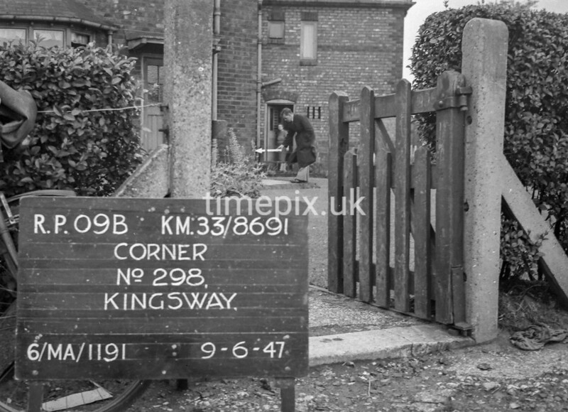 SJ869109B, Ordnance Survey Revision Point photograph in Greater Manchester