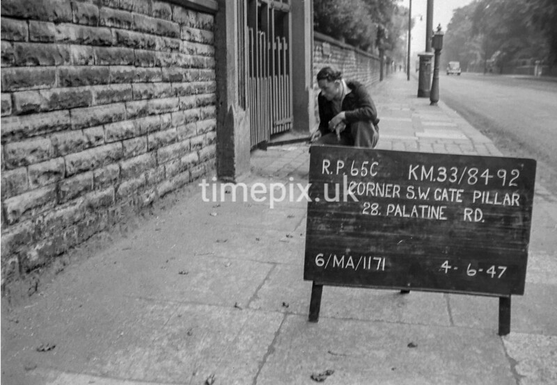 SJ849265C, Ordnance Survey Revision Point photograph in Greater Manchester