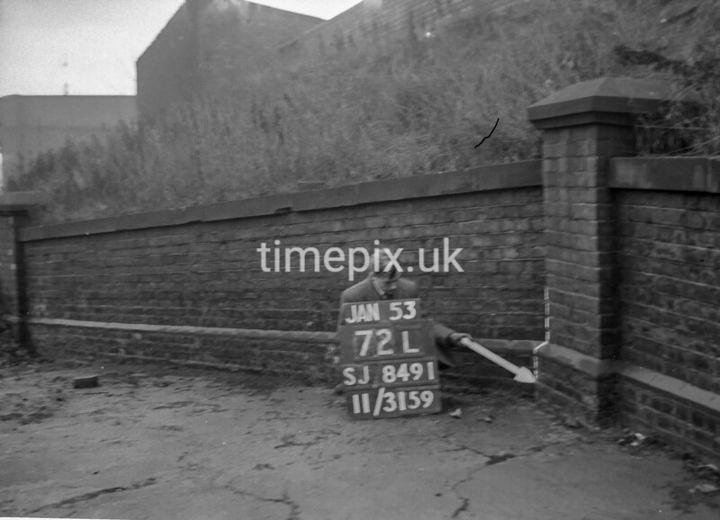 SJ849172L, Ordnance Survey Revision Point photograph in Greater Manchester