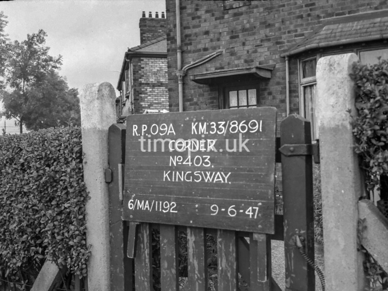 SJ869109A, Ordnance Survey Revision Point photograph in Greater Manchester