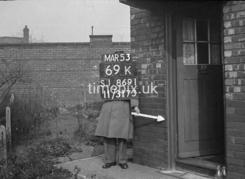SJ869169K, Ordnance Survey Revision Point photograph in Greater Manchester