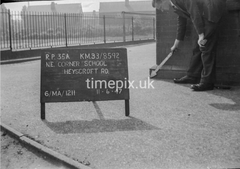 SJ859235A, Ordnance Survey Revision Point photograph in Greater Manchester