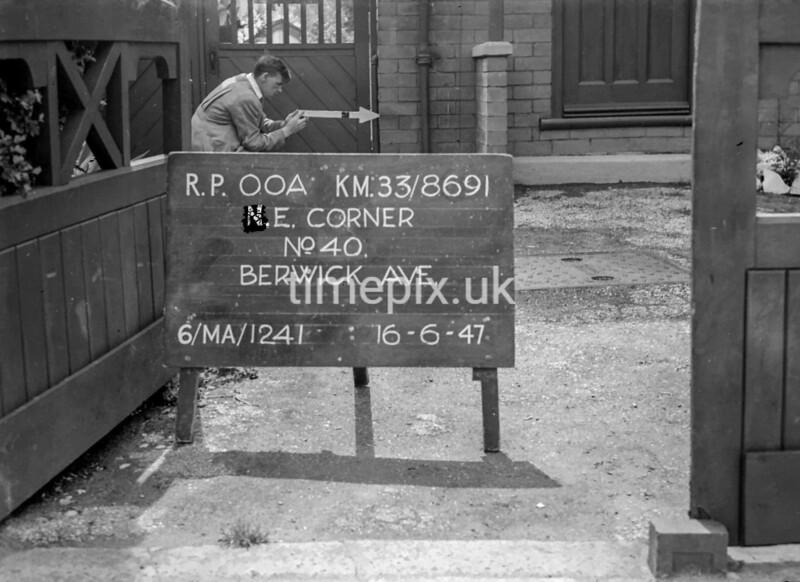 SJ869100A, Ordnance Survey Revision Point photograph in Greater Manchester