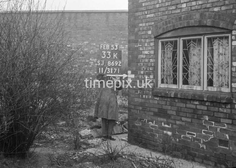 SJ869233K, Ordnance Survey Revision Point photograph in Greater Manchester