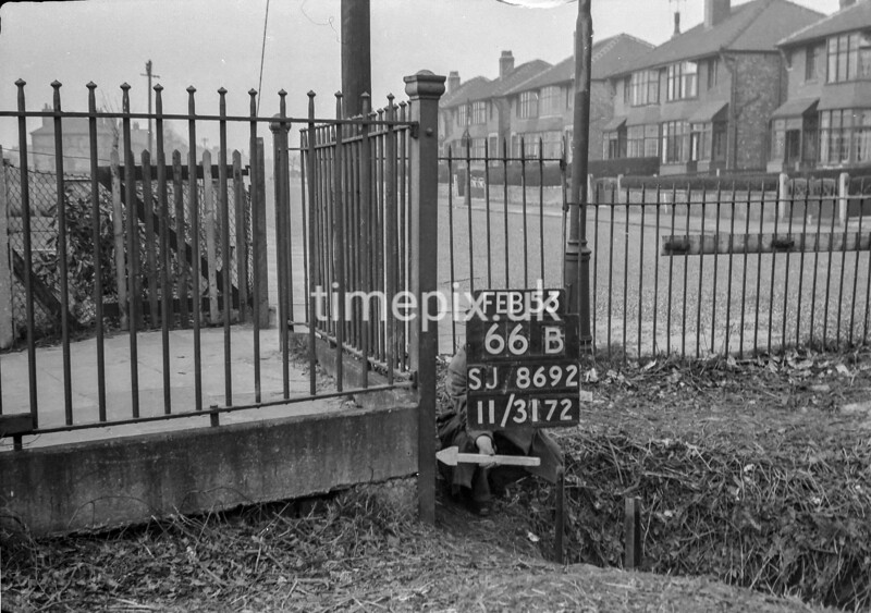 SJ869266B, Ordnance Survey Revision Point photograph in Greater Manchester