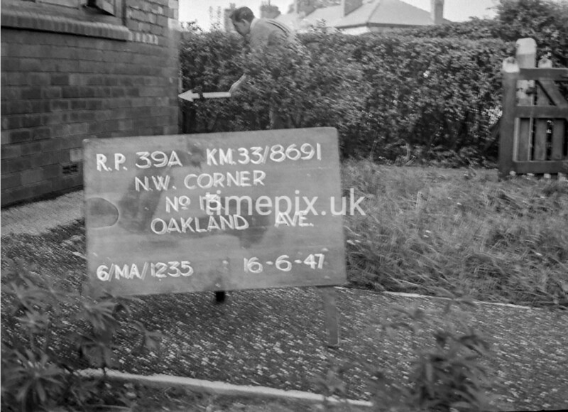 SJ869139A, Ordnance Survey Revision Point photograph in Greater Manchester