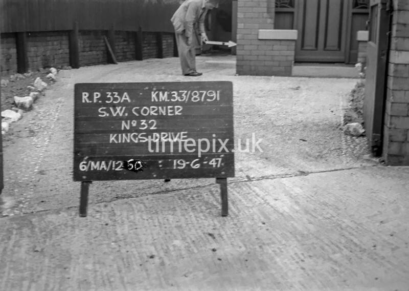 SJ879133A, Ordnance Survey Revision Point photograph in Greater Manchester
