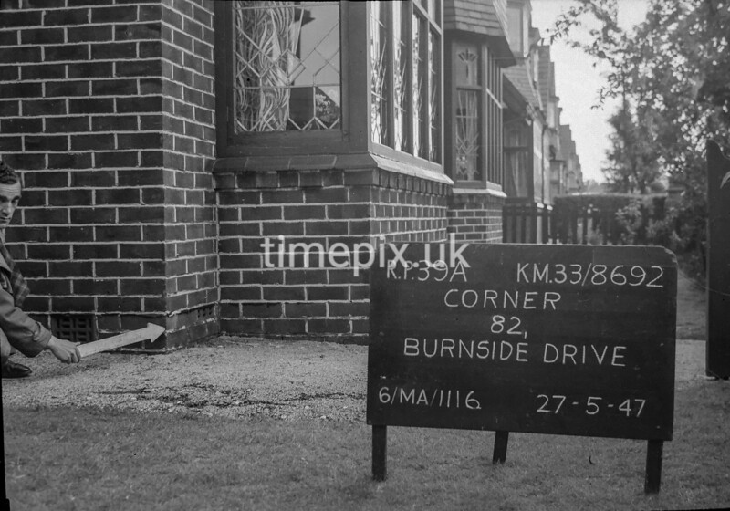 SJ869239A, Ordnance Survey Revision Point photograph in Greater Manchester