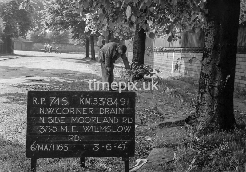 SJ849174S, Ordnance Survey Revision Point photograph in Greater Manchester