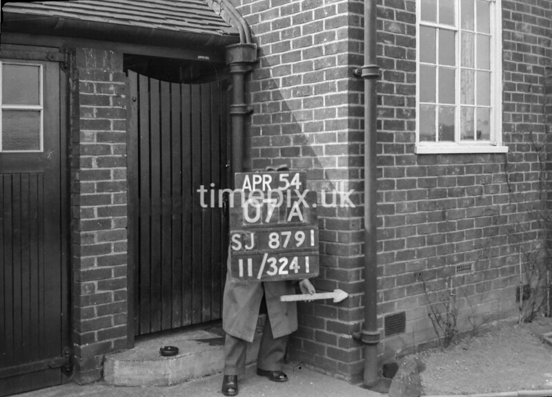 SJ879107A, Ordnance Survey Revision Point photograph in Greater Manchester