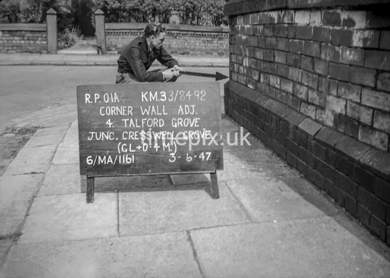 SJ849201A, Ordnance Survey Revision Point photograph in Greater Manchester
