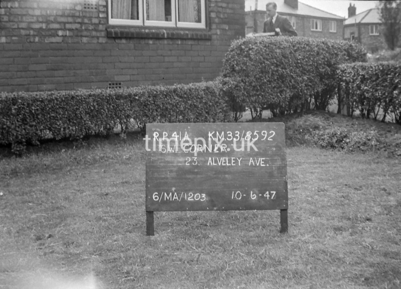 SJ859241A, Ordnance Survey Revision Point photograph in Greater Manchester