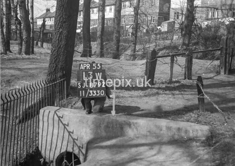 SJ879213W, Ordnance Survey Revision Point photograph in Greater Manchester