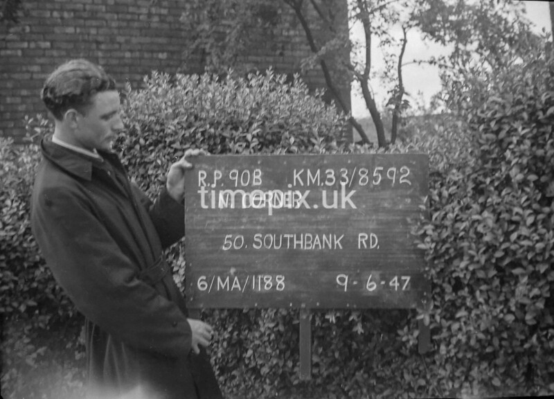 SJ859290B, Ordnance Survey Revision Point photograph in Greater Manchester
