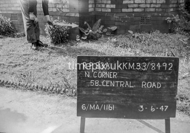 SJ849233A, Ordnance Survey Revision Point photograph in Greater Manchester