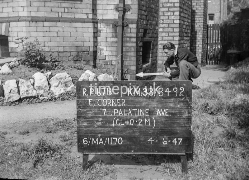 SJ849267B, Ordnance Survey Revision Point photograph in Greater Manchester