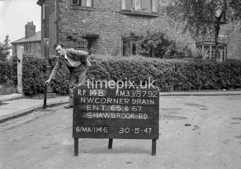 SJ879214B, Ordnance Survey Revision Point photograph in Greater Manchester
