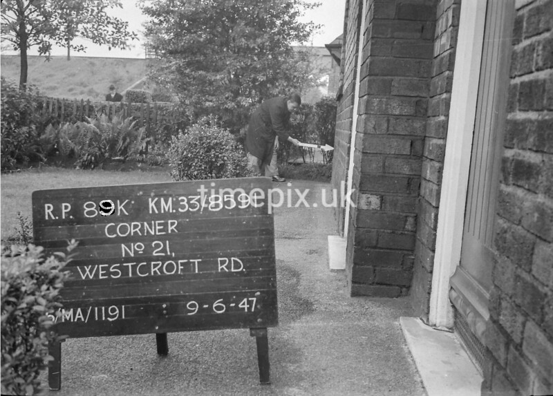 SJ859189K, Ordnance Survey Revision Point photograph in Greater Manchester