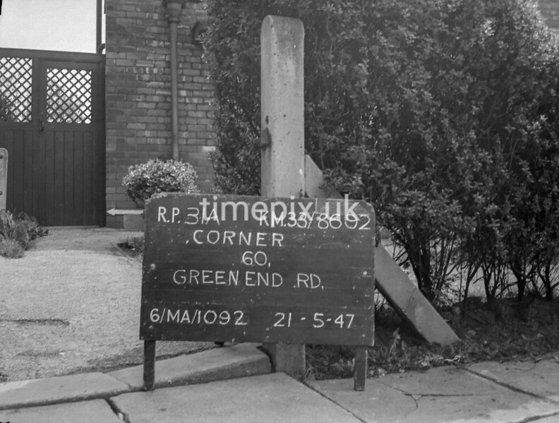 SJ869231A, Ordnance Survey Revision Point photograph in Greater Manchester