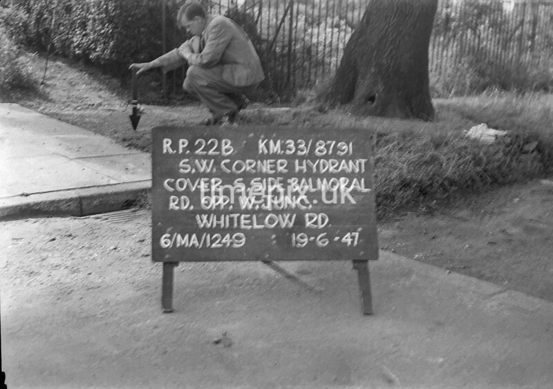 SJ879122B, Ordnance Survey Revision Point photograph in Greater Manchester