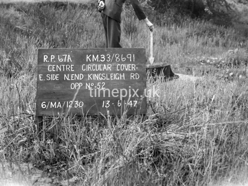 SJ869167A, Ordnance Survey Revision Point photograph in Greater Manchester
