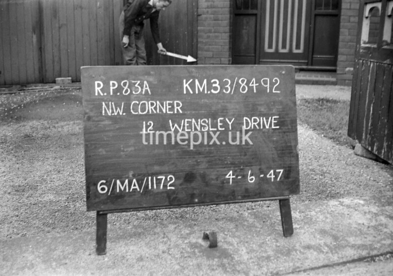 SJ849283A, Ordnance Survey Revision Point photograph in Greater Manchester