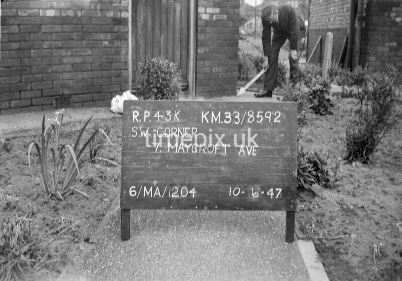 SJ859243K, Ordnance Survey Revision Point photograph in Greater Manchester